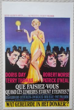 Where Were You When the Lights Went Out, Original Belgian Movie Poster, Doris Day 68